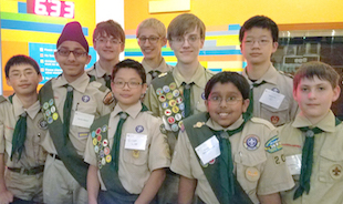 Scouts' Experiment Launches into Outer Space