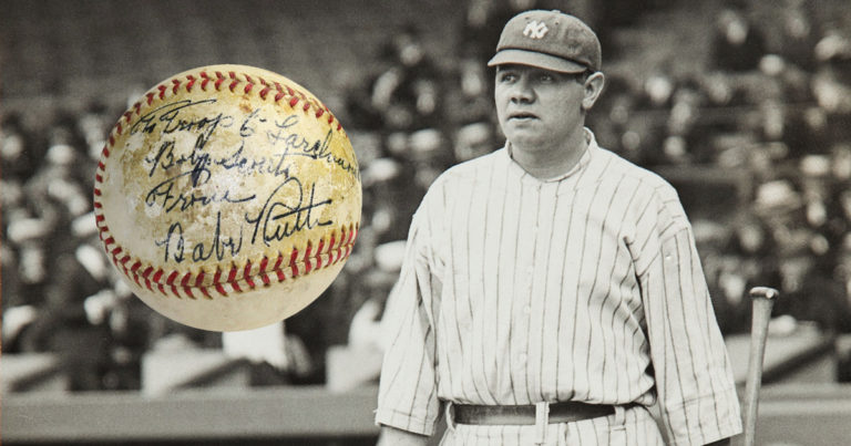 Babe Ruth signed this baseball 'to Troop 6,' and now it's being auctioned for Scouts