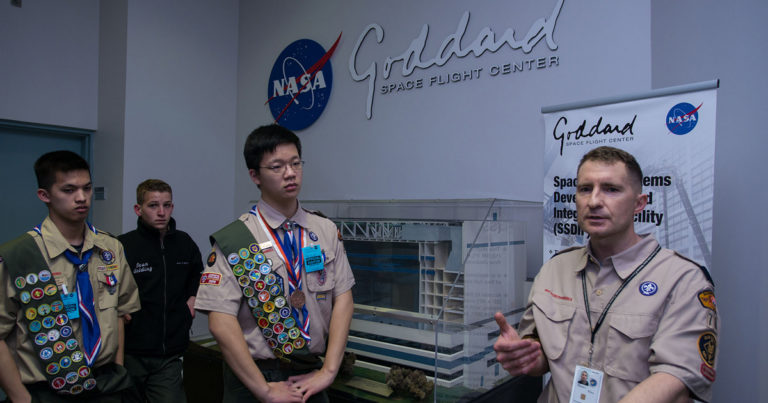 Scouts find scientific inspiration, and maybe future jobs, at NASA's Goddard Space Flight Center