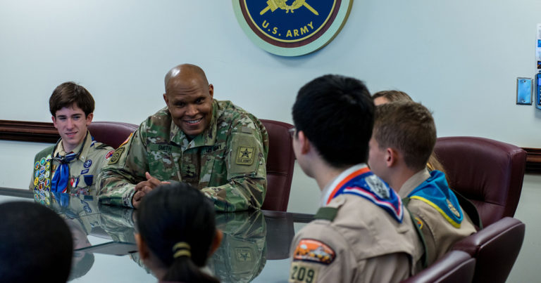 Three-star Army general, a Life Scout, says Scouting taught him how to work in a team