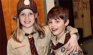 Twin Brother and Sister Enjoying Scouting Together, Hope to Someday Earn Eagle
