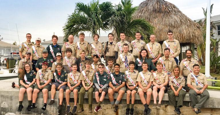 At SeaBreak, Arrowmen spend their spring break helping rebuild Florida camp