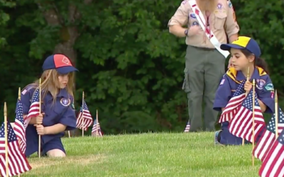 Scouts Place Thousands of Flags for Memorial Day