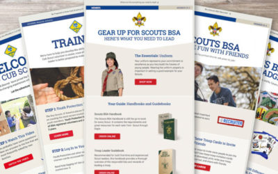 Look inside the emails the BSA sends new Cub Scout and Scouts BSA families