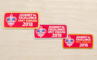 Who can wear the Journey to Excellence patch on their Scout uniform?