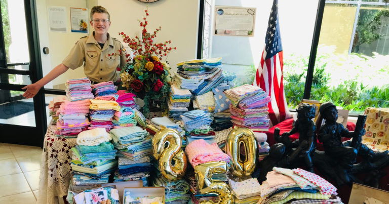Eagle Scout project brings touch of warmth to families dealing with unspeakable loss