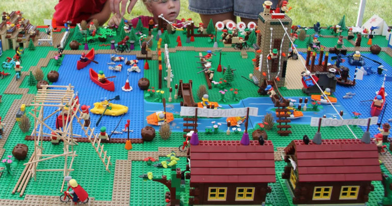 Check out this massive, incredibly detailed Lego replica of a Scout summer camp