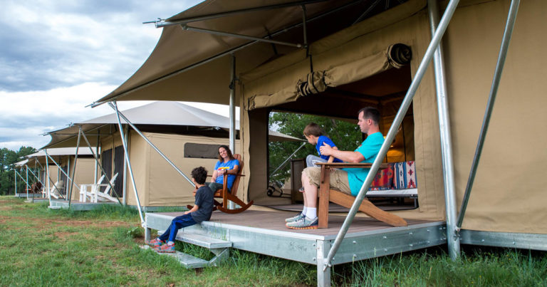 With new Deluxe Tents, Philmont Training Center broadens appeal to more families